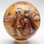 Новогодний шар «Маски на катке»